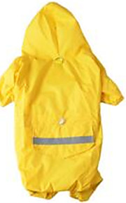 Dog Rain Coat Yellow Dog Clothes Spring/Fall Solid Casual/Daily