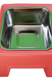 Gato Perro Cuencos y Botellas de Agua Mascotas Cuencos y Alimentación Portátil Rojo Azul Amarillo Acero Inoxidable