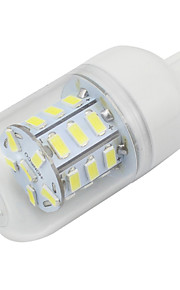 Clear Cover G9 4W Led Lamp Corn Style 5730SMD 27LEDs AC85-265V Energy Saving Light Cool / Warm White (1 Piece)
