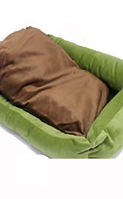 Dog Bed Pet Mats & Pads Portable Green Cotton