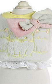 개 코트 그린 블루 핑크 강아지 의류 겨울 솔리드 귀여운