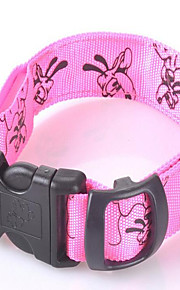 honden Kraag Reflecterend Effen Blauw Roze Oranje Nylon