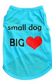 Hundar Väst Blå Hundkläder Sommar Enfärgat Gulligt Ledigt/vardag
