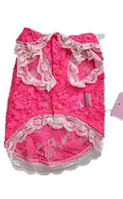 Perros Camiseta Rosado Ropa para Perro Verano Encaje Adorable
