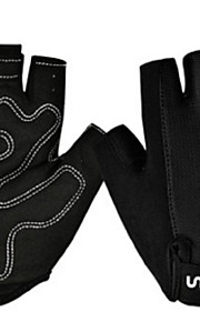 BODUN /SIDEBIKE® スポーツグローブ フリーサイズ サイクルグローブ 春 夏 秋 冬 サイクルグローブ 高通気性 耐摩耗性 耐久性 反射材 保護 フィンガーレス 生地 サイクルグローブ レッド ブラック サイクリング