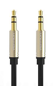 vention® 3,5 mm aux kabel jack till jack guldpläterade 90 graders vinkel ljudkabel för bil för iphone hörlurar