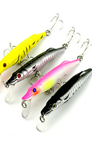 4pcs 6.1g 90mm  Lure Fishing Hard Bait Random Colors
