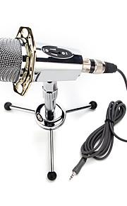 2017 novo de alta qualidade microfone condensador estéreo útil quente com fios com grampo titular para conversar karaoke pc portátil