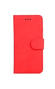 För Plånbok Korthållare Lucka Magnet fodral Heltäckande fodral Enfärgat Hårt PU-läder för AppleiPhone 7 Plus iPhone 7 iPhone 6s Plus/6