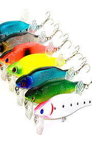 7pcs 12.51g 80mm 3D Eyes Lure Fishing Bait Random Colors