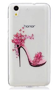Voor Ultradun Patroon hoesje Achterkantje hoesje Sexy dame Zacht TPU voor Huawei Huawei Honor 5C