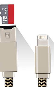 SENKAMA MicroSD/MicroSDHC/MicroSDXC/TF Alles-in-Een OTG USB 2.0 MicroUSB Apple Lightning