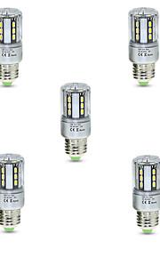 5W E26/E27 LED-kornpærer T 24 SMD 5736 600 lm Varm hvit Kjølig hvit Dekorativ V 5 stk.