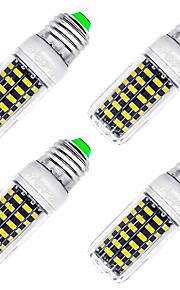 7W E26/E27 LED-kornpærer T 64 SMD 5733 560 lm Varm hvit Dekorativ AC 220-240 V 4 stk.