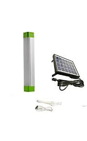 5w 다기능 태양 광 LED 튜브 야외 휴대용 비상 조명 충전식 손전등 밝기 램프의 USB 충전 1PCS를 조정