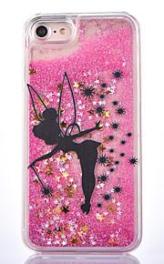 För Flytande vätska Mönster fodral Skal fodral Glittrigt Hårt PC för AppleiPhone 7 Plus iPhone 7 iPhone 6s Plus/6 Plus iPhone 6s/6 iPhone