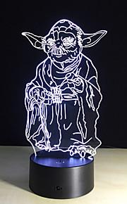bulbificação luz 3d 7 cores mudando Star Wars brinquedos Millennium Falcon Darth Vader BB8 robô droid Mestre Yoda levou a iluminação da