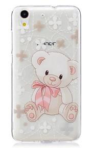 Voor Ultradun Patroon hoesje Achterkantje hoesje Dier Zacht TPU voor Huawei Huawei Honor 5C