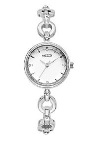 KEZZI Mulheres Relógio de Moda Bracele Relógio Quartzo Quartzo Japonês Lega Banda Casual Elegantes Prata Ouro Rose Dourado Branco Rosa
