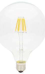 6W Lâmpadas de Filamento de LED G125 6 COB 600 lm Branco Quente Decorativa AC 220-240 V 1 pç