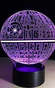estrela da morte 3d ilusão luz da noite levou 7 cor da lâmpada decoração iluminação da lâmpada de mesa mudança mesa gadget de presente