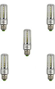 9W E27 LED-maïslampen T 42 SMD 5736 1080 lm Warm wit Koel wit Decoratief V 5 stuks