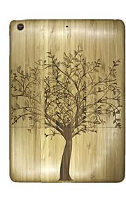 För Läderplastik fodral Skal fodral Träd Hårt Trä för Apple iPad Air