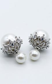 Body Jewelry/Ear Piercing Sterling Silver Flower Fashion White 1 pair