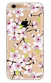 Para Ultrafina Diseños Funda Cubierta Trasera Funda Flor Suave TPU para Apple iPhone 7 Plus iPhone 7 iPhone 6s Plus/6 Plus iPhone 6s/6