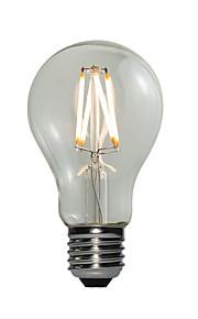 4W E27 LED-globepærer A60(A19) 4 COB 360 lm Varm hvit Dimbar AC 220-240 V 1 stk.