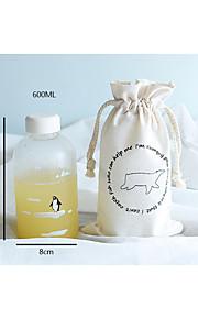 transparante nieuwigheid to-go outdoor drinkware, 600 ml lekvrije glas sap water nieuwigheid drinkware tumbler