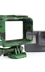 i395C Camouflage Border Cover Bracket for Gopro Hero 5 Camera Accessories(Green/Gray/Yellow)