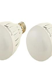 3W E27 Lâmpada Redonda LED B SMD 5730 250 lm Branco Quente Branco Frio Decorativa AC 85-265 V 2 pçs