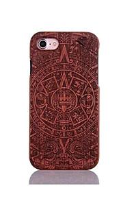 För Stötsäker Läderplastik Mönster fodral Skal fodral Tecknat Hårt Trä för AppleiPhone 7 Plus iPhone 7 iPhone 6s Plus/6 Plus iPhone 6s/6