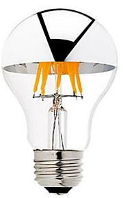 6W B22 E26/E27 LED필라멘트 전구 G60 6 COB 600 lm 따뜻한 화이트 밝기 조절 AC 220-240 AC 110-130 V 1개