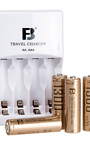 FB FB12 HR6 AA Nickel Metal Hydride Battery 1.2V 180mAh 1300mAh 5 Pack