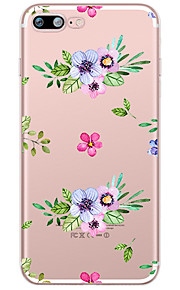 Color Following Pattern Case Back Cover Case Flower Soft TPU for Apple iPhone 7 Plus iPhone 7 iPhone 6s Plus 6 Plus iPhone 6s 6 iPhone
