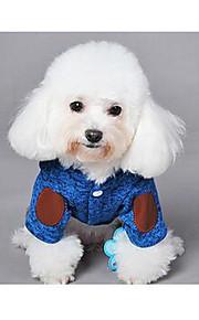 Perros Abrigos Naranja Azul Negro Gris Ropa para Perro Invierno Un Color Adorable