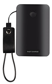12500mAhpower bank external battery QC 3.0 Multi-Output with Cable Automatic Adjusted Current Shockproof 15000 2000QC 3.0 Multi-Output
