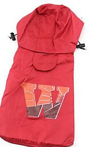 Собаки Дождевик Красный Коричневый Розовый Одежда для собак Весна/осень Английский На каждый день Спорт