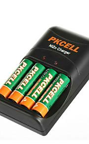 pkcell 2500mwh 8186 aa 1.6V nickel zink batteri 300mAh 4 pack