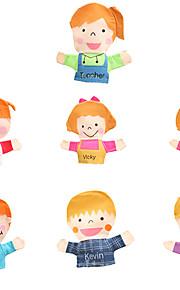 Teacher Ttudent Do A Family  Dolls Professional DollsBig Hands Dolls Finger  Love Dolls Finger Puppet Model & Building Toy Toys Novelty Textile Cotton