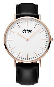 Unissex Relógio de Moda Quartzo Couro Legitimo Banda Preta Marrom marca
