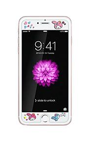 voor Apple iPhone 6 / 6s 4.7inch gehard glas transparante voorkant screen protector met reliëf cartoon patroon glow in the dark vogel