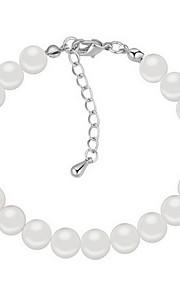 Armbånd Kæde & Lænkearmbånd Perle Cirkelformet Natur Smykker Gave Sort Hvid Grå,1 Stk.