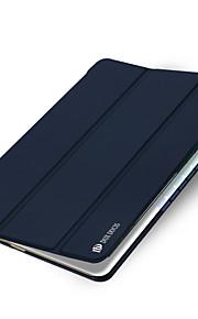 For Med stativ Auto Sluk Origami Etui Heldækkende Etui Helfarve Hårdt Kunstlæder for Apple iPad Mini 4