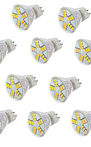 3.5 GU4(MR11) LED-spotpærer MR11 15LED SMD 5730 350 lm Varm hvit Kjølig hvit Dekorativ V 10 stk.