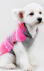 개 코트 핑크 강아지 의류 모든계절/가을 하트 귀여운 캐쥬얼/데일리