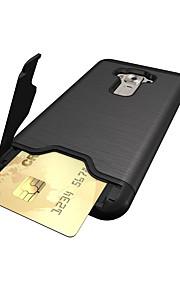 용 카드 홀더 충격방지 스탠드 케이스 뒷면 커버 케이스 단색 하드 PC 용 Asus Asus ZenFone 3 (ZE552KL)(5.5)