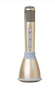 K068 Sem Fios Microfone de Karaoke USB Preto Rosa